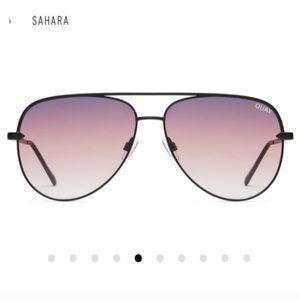 QUAY X DESI Sahara Aviator Sunglasses